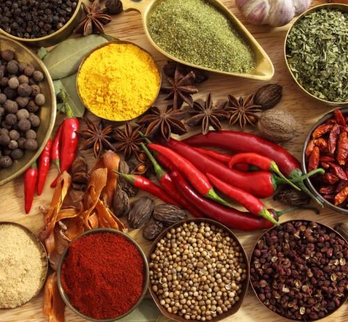 Spezie, Erbe Aromatiche e Alimenti
